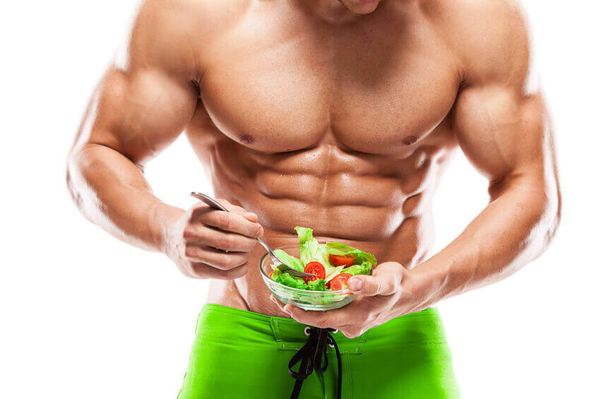 Bodybuilder sind Vegetarier