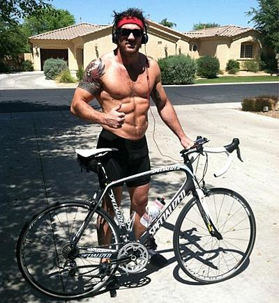 Bodybuilding und Fahrrad